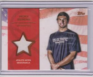 RARE 2012 TOPPS OLYMPIC RICKY BERENS BRONZE RELIC CARD ~ 67/75 ~ SWIMMING