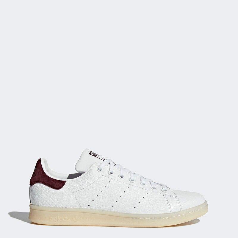 Adidas Men Originals Stan Smith Sneakers Sport White Brown BZ0487 UK6.5-10.5 04'