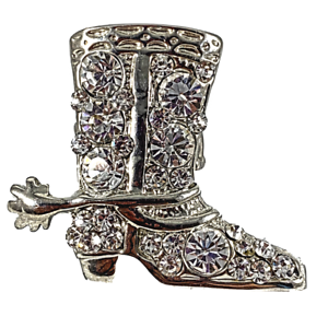 Cowboy-Boot-Rhinestone-Ring-Glamour-Statement-Jewelry-Stretch-Band-R12360