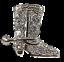 Cowboy-Boot-Rhinestone-Ring-Glamour-Statement-Jewelry-Stretch-Band-R12360 thumbnail 1