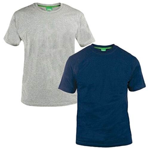 Duke D555 Hommes King Taille Grand 2 Paquet Coton Col Rond T-Shirt