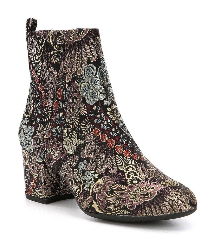 Gianni Bini Jaydennn Women's Size 5.5M Brocade Fabric Fabric Fabric Block Heel Zip Booties New 8c6ac8