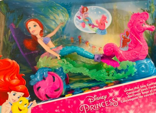Disney Princess Mermaid Ariel Under the Sea Carriage Pulled by Seahorse