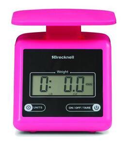 6d6d1a7e2fbd Details about Brecknell PS7 Electronic Portable Parcel Scale 7 lb x 0.5 oz,  Dual, Pink