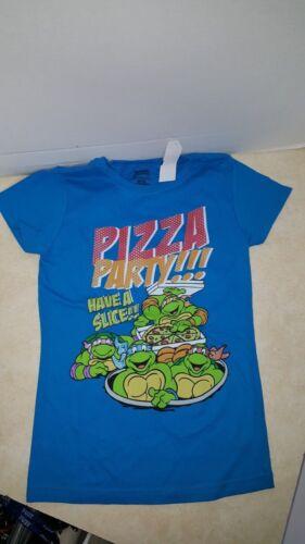 14//16 NEW Pizza Party Teenage Mutant Ninja Turtles Girls T-shirt size   7//8