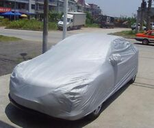 Silver Waterproof Sun UV Snow Dust Rain Resistant Protection Full Car Cover M