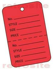 200 Small Price Hang Tags Without Strings Red 2 Part Perforated