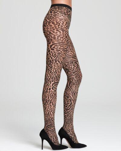 Sahara Collant Wolford Austria Leopard Black Animalia Collant 65 9009101453785 NWT qq71tf
