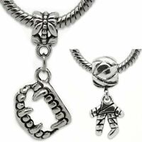 Halloween Charms 2 Pcs. Vampire Teeth & Mummy For Snake Chain Charm Bracelets