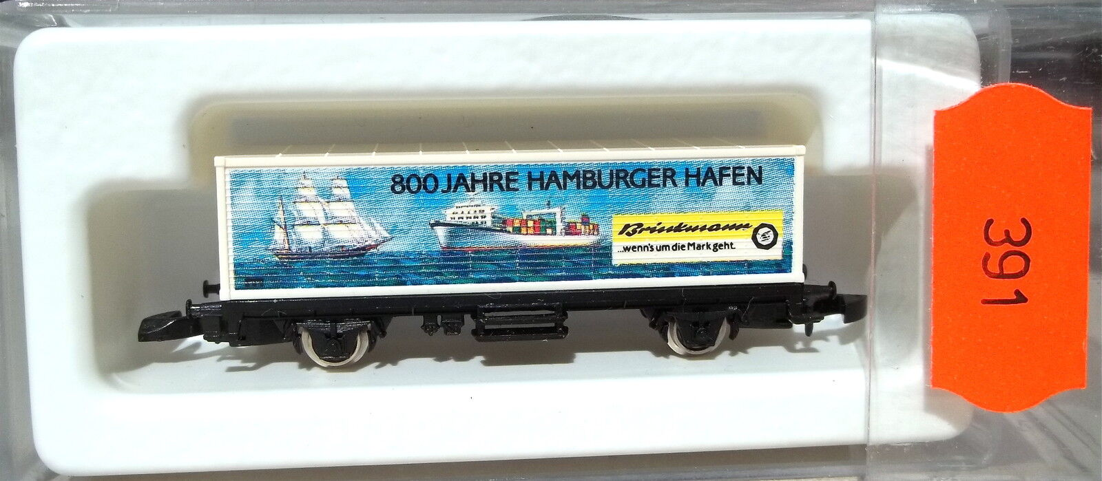 800 Ans Hamburger Port, Wagon Transport de Conteneurs Kolls 90721 Märklin 8615 Z