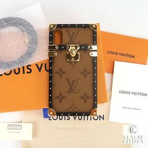e2694bf5 Details about NEW AUTHENTIC STRAP REVERSE MONOGRAM LOUIS VUITTON Eye Trunk  for iPhone X M62619