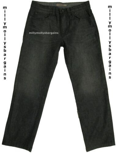 New Mens Marks /& Spencer Grey Straight Jeans Waist 42 Leg 33