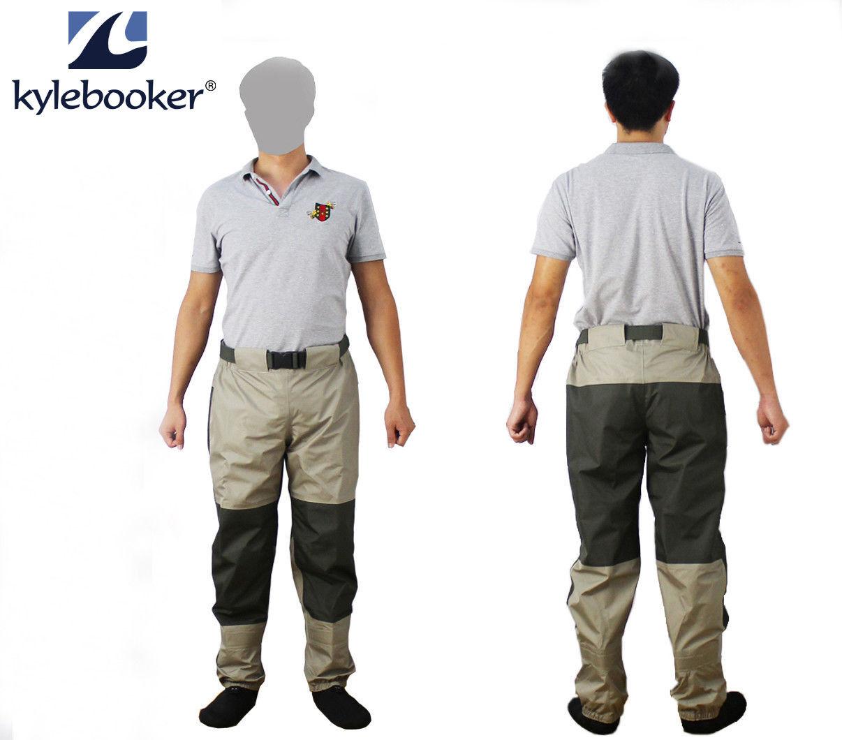 PESCA a mosca Trampolieri durevole resistente alle intemperie Guado Pantaloni Tricot tessuto Pro Shell