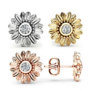 Gorgeous-Stud-Earrings-for-Women-925-Silver-Rose-Gold-Gold-White-Sapphire-A-Pair