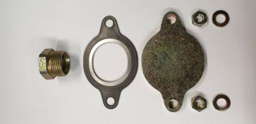 Verschlussplatte  Blinddeckel für AGR-Ventil Mercedes 8-Zylinder M116 und M117