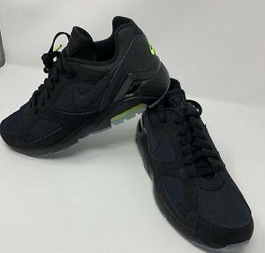 Nike Air Max 180 Black Volt Night Ops Running Shoes Aq6104