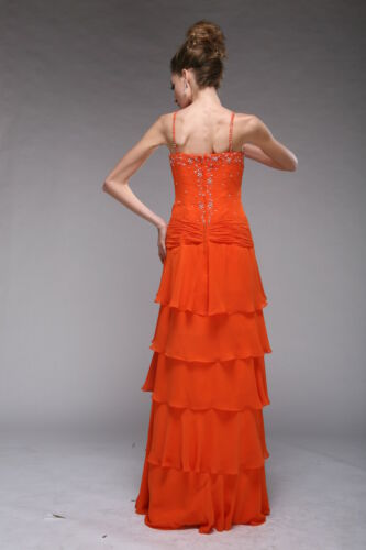 Abendkleid Ballkleid Partykleid  Grün  Lila  Orange