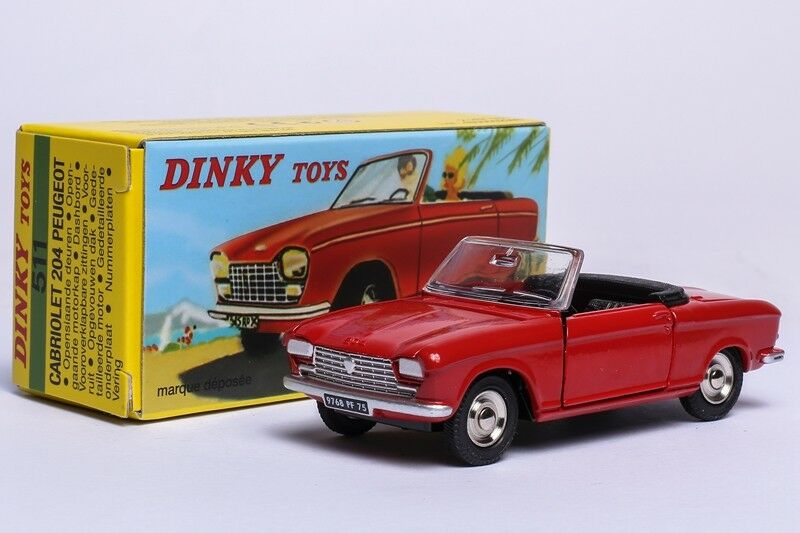 COLLECTION ATLAS 1 43 DINKY TOYS 511 CABRIOLET Peugeot 204 DIECAST CAR MODEL