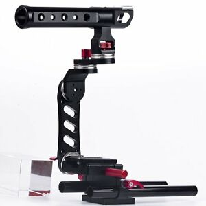 15mm-Rod-Rig-Camera-Video-Cage-Kit-Top-Handle-Grip-for-Canon-Nikon-Pentax-5D