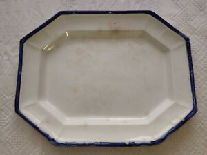 Antique-Flow-Bleeding-Blue-Farmhouse-Pottery-Meat-Bread-Serving-Platter-15-12