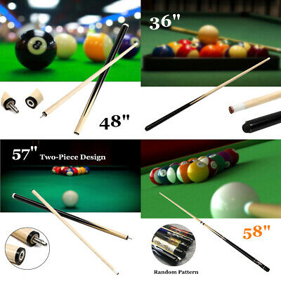 48/'/' 2-Piece Children Wood Jointed Snooker Pool Cue Stick For Billiards Sport