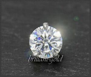 Diamant-585-Gold-Brillant-Anhaenger-0-38ct-Top-Wesselton-VS1-14-Karat-Weissgold
