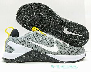 Nike Metcon DSX Flyknit 2X Mens Black White Yellow Training Running AO2807-017