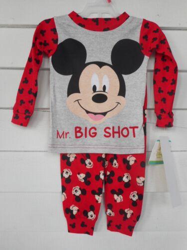 Disney Mickey Mouse Toddler Boys 2-pc Cotton Pajama Set Various Sizes NWT