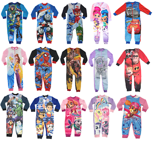 f6d6ea72afe6 Official Kids All in One Boys Girls Fleece Character Childrens ...