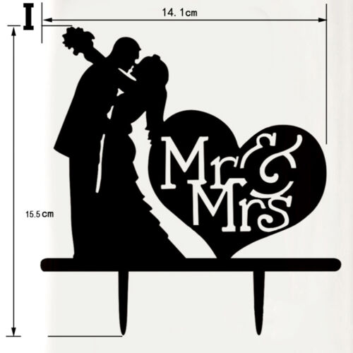 Acrylic Mr /&Mrs Bride Groom Wedding Love Cake Topper Party Favors Decoration