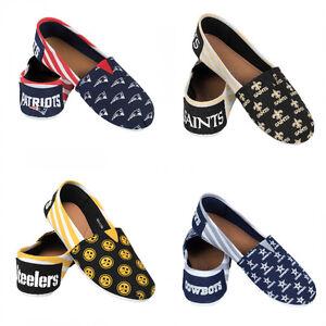 NFL-Women-039-s-Canvas-Stripe-Shoes-Pick-Team