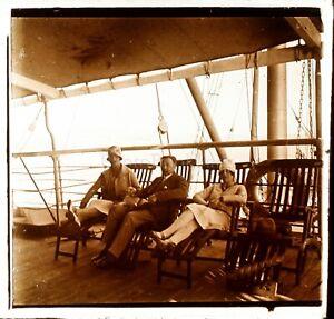 Viaggio-in-Egitto-Paquebot-c1925-Foto-Stereo-Vintage-Placca-Lente-VR4L7n2