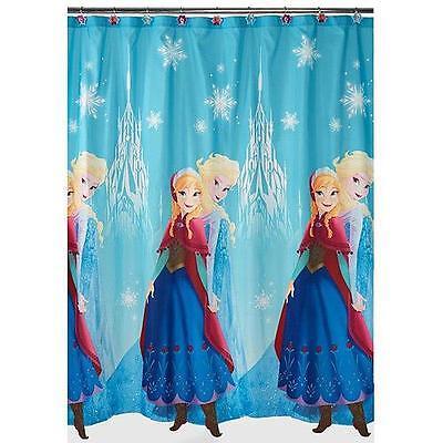 "Disney Frozen Elsa Anna Bathroom Fabric Shower Curtain 72"" X 72""-NEW"