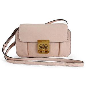 Chloe Elsie Mini Calfskin Leather Crossbody Bag Cement Pink 3P0600 ...