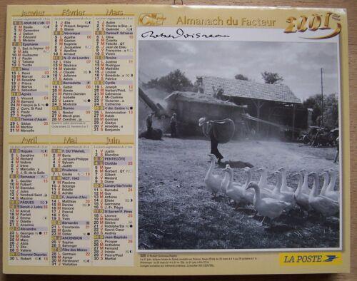 § CALENDRIER ALMANACH DU FACTEUR 2001 Robert Doisneau travail à la ferme