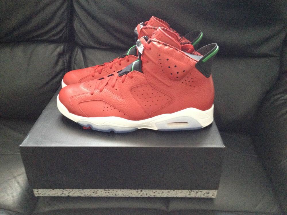 Nike air jordan 6 rétro Homme Baskets Chaussures Spizike rouge UK9.5 NEUF   look-