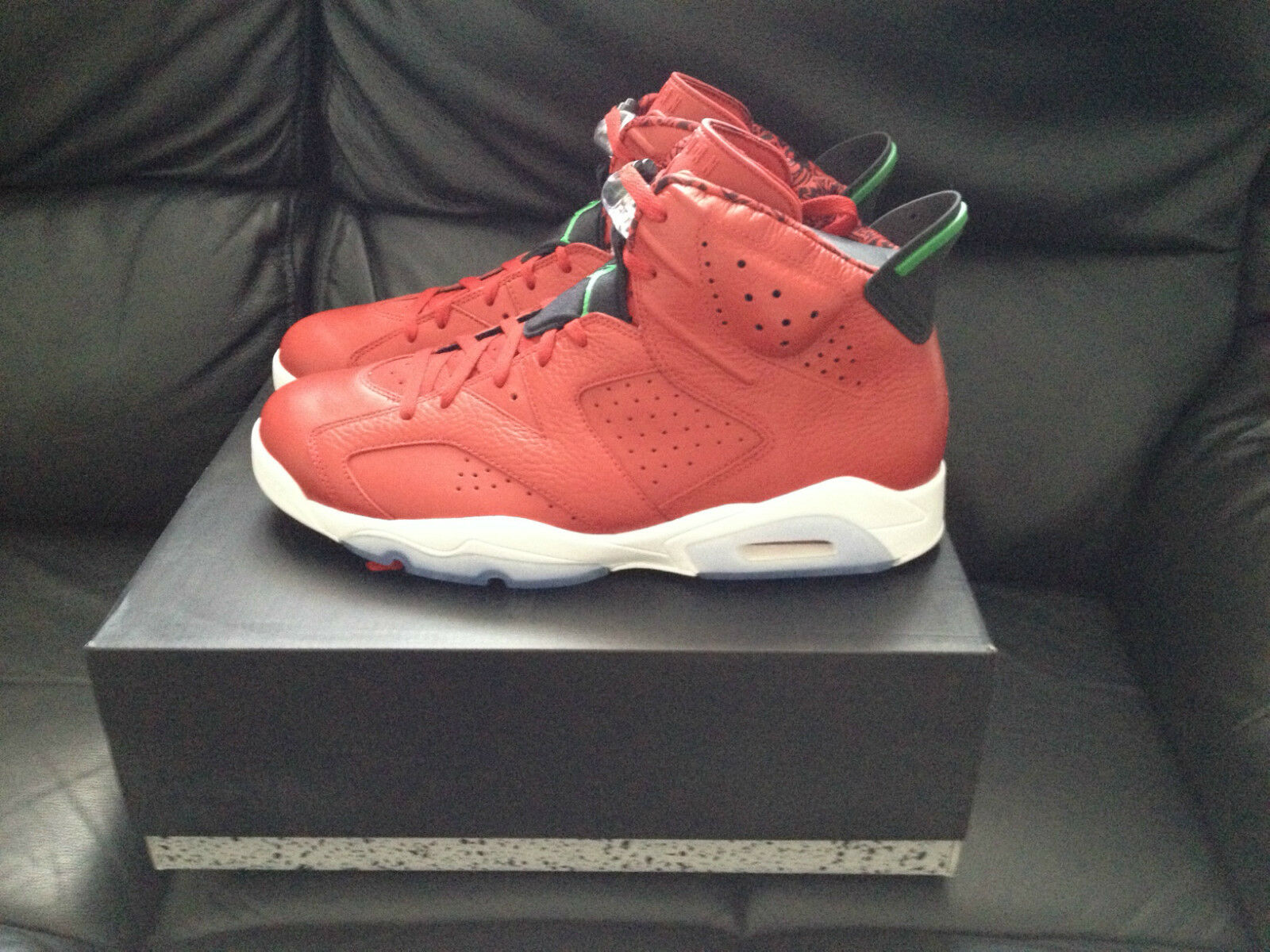 Nike Air Jordan 6 Retro Spizike   Herren Schuhes Trainers ROT UK9.5 Brand New LOOK