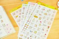 25 Toto Cat Rabbit 2nd Generations Cute Deco Pvc Stickers 6 Sheets/set