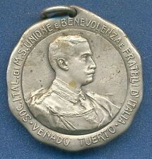 *ITALY Argentina COMMUNITY Society VENADO TUERTO King V EMANUELE III 1913 Medal