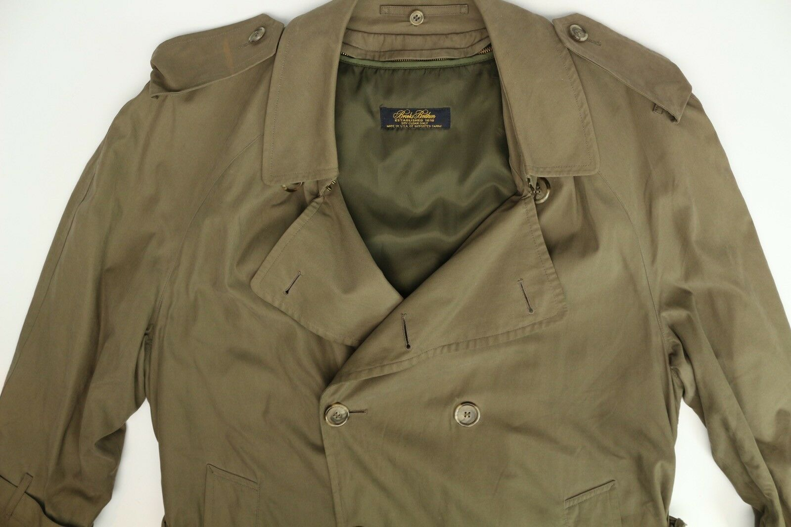 Coat 40r Double Brooks Boutonnage Brothers Trench Hommes qpnIZvw1