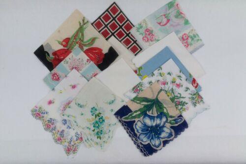 Vintage Hanky, Handkerchief, Hankies, Lot of 12 cu
