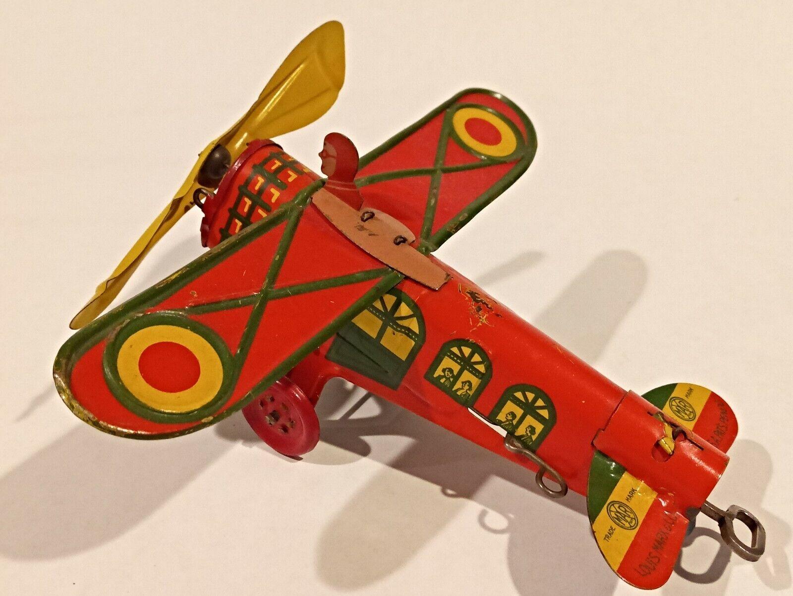 Marx, No. 700 Dare Devil Flyer Plane, 1928, EX Condition, Extremely Rare