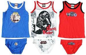 Chicos-Darth-Vader-Star-Wars-Chaleco-amp-Calzoncillos-Slip-Pantalones-Ropa-Interior-Conjunto-de-5-a