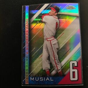 Stan Musial 2020 Topps Chrome Update A Numbers Game #NGC-11 St. Louis Cardinals
