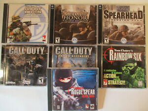 PC-Lot-of-7-SHOOTER-GAMES-Call-of-Duty-Rainbow-Six-Ghost-Recon-and-MORE