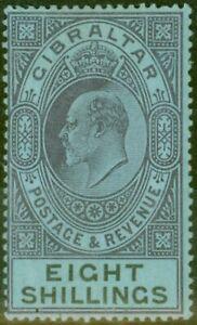 Gibraltar 1903 8s Dull Violet & Noir-Bleu SG54 Fin & Frais Légèrement