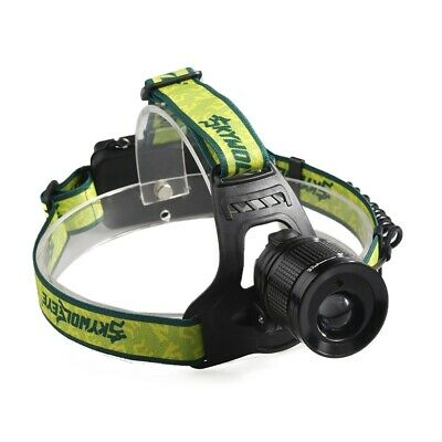 Skywolfeye LED Headlamp Adjustable Night Fishing Riding Camping Headlight Torch