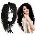 Long Deep Curly Heat Resistant Lace Front Synthetic Hair Wigs For Fashion Women