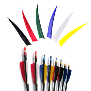 50pcs 5 Inch Shield Turkey Feathers Arrow Feather Fletching For Archery Hunti/_ZT
