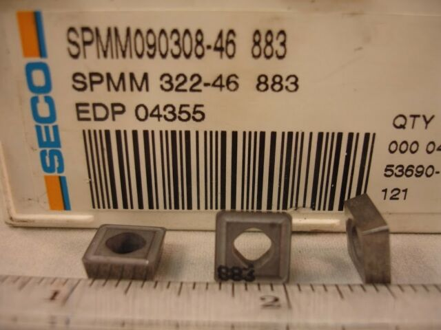 SECO RCMM43-46 Carbide Turning Inserts Lot of 10